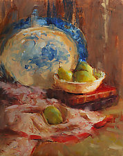 Harvest Platter by Leslie Dyas (Oil Painting)