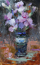 April Iris by Leslie Dyas (Oil Painting)