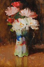 Wayside Flowers by Leslie Dyas (Oil Painting)