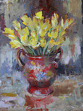 Buttercups by Leslie Dyas (Oil Painting)