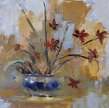 Tiger Orchids by Leslie Dyas (Oil Painting)