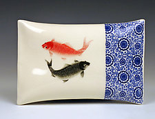 Koi Pillow by Lin Xu (Ceramic Sculpture)