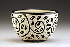 Vine and Leaf Bowl by Jennifer  Falter (Ceramic Bowl)