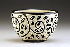 Vine and Leaf Bowl by Jennifer  Falter (Ceramic Bowl)