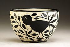 Blackbird Bowl by Jennifer  Falter (Ceramic Bowl)