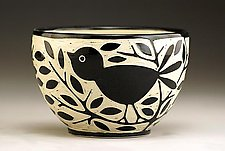 Blackbird Bowl by Jennifer  Falter (Ceramic Bowl)
