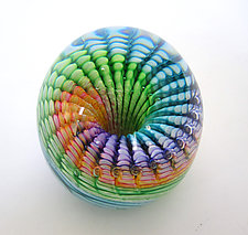 Rainbow Paperweight by April Wagner (Art Glass Paperweight)