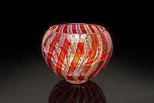 Red Zanfirico Bowl by April Wagner (Art Glass Bowl)