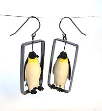 Penguin Earrings by Kristin Lora (Silver Earrings)