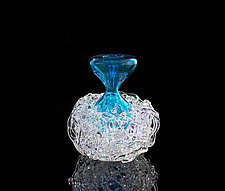 Blue Nest Vase by April Wagner (Art Glass Vase)