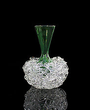 Green Nest Vase by April Wagner (Art Glass Vase)