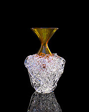Amber Nest Vase by April Wagner (Art Glass Vase)