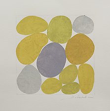 Golden Yellow and Gray by Nancy Simonds (Watercolor Painting)
