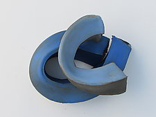 Waves II by Amy Meya (Ceramic Wall Sculpture)