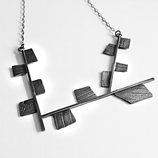 Little Fragments Necklace by Jane Pellicciotto (Silver Necklace)
