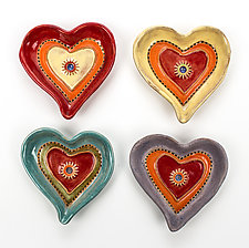 Starburst Hearts by Laurie Pollpeter Eskenazi (Ceramic Dish)