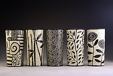 Cylinder Vases by Jennifer  Falter (Ceramic Vessel)
