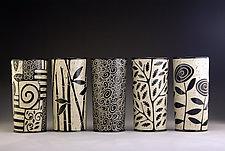 Cylinder Vases by Jennifer  Falter (Ceramic Vessel)