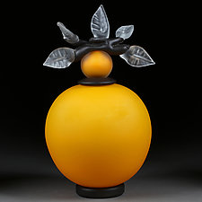 Novi Zivot (New Life) Satin Goldenrod by Eric Bladholm (Art Glass Vessel)