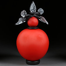 Novi Zivot (New Life) Satin Cherry by Eric Bladholm (Art Glass Vessel)