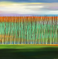Reeds #7 by Mary Johnston (Oil Painting)