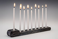 Folded Menorah by Nicole and Harry Hansen (Metal Menorah)