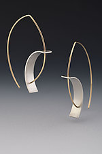 Tension Earring by Hilary Hachey (Gold & Silver Earrings)