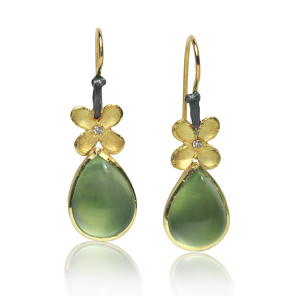 Prehnite Pear Earrings