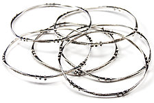 Flux  Ball Bangles by Nikki Nation (Silver Bracelet)