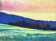 Far Blue Hill by Ken Elliott (Oil Painting)