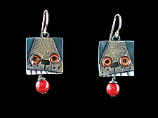 Fetch Earrings by Lisa and Scott  Cylinder (Metal Earrings)