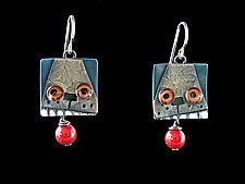 Fetch Earrings by Lisa and Scott  Cylinder (Metal Earrings)