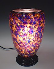 Speckled Purple Lamp by Curt Brock (Art Glass Table Lamp)