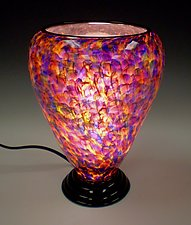 Speckled Crimson Lamp by Curt Brock (Art Glass Table Lamp)