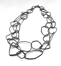 Cosmos Necklace #31 by Jennifer Bauser (Silver Necklace)