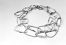 Cosmos Necklace #37 by Jennifer Bauser (Silver Necklace)