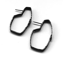 Cosmos Earrings #25 by Jennifer Bauser (Silver Earrings)