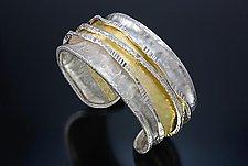 Wide Cuff 1 by Sana  Doumet (Gold & Silver Cuff)