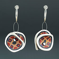 Wings Organics Red Gold by Arden Bardol (Polymer Clay Earrings)
