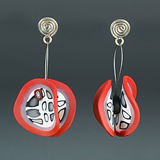 Wings Organics Red by Arden Bardol (Polymer Clay Earrings)