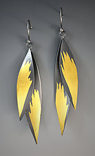 Feather Earrings by Judith Neugebauer (Gold & Silver Earrings)