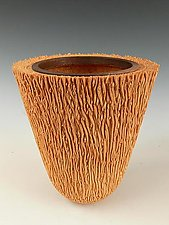 Natural Palm Wood Vessel by Dewey Garrett (Wood Vessel)