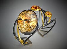Nebula Cuff by Judith Neugebauer (Gold, Silver & Stone Bracelet)