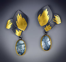 Aqua Drop Earrings by Judith Neugebauer (Gold, Silver & Stone Earrings)