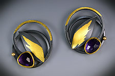 Lilac Earrings by Judith Neugebauer (Gold, Silver & Stone Earrings)