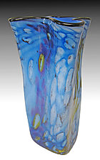 Riverbed Bag Vase in Water by Thomas Philabaum (Art Glass Vase)
