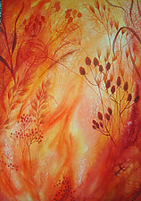 Prairie Fire Study VI by Helen Klebesadel (Watercolor Painting)