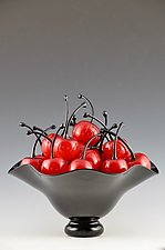 Life is a Bowl of Cherries by Donald  Carlson (Art Glass Sculpture)