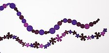 Purple Necklace by Danielle Gori-Montanelli (Felted Necklace)
