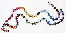 MultiColor Necklace by Danielle Gori-Montanelli (Felt Necklace)